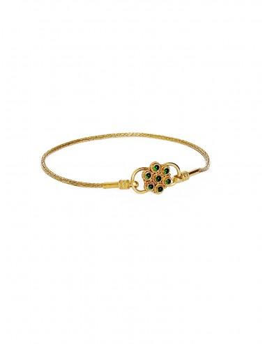 Bracelet Padawan green flower