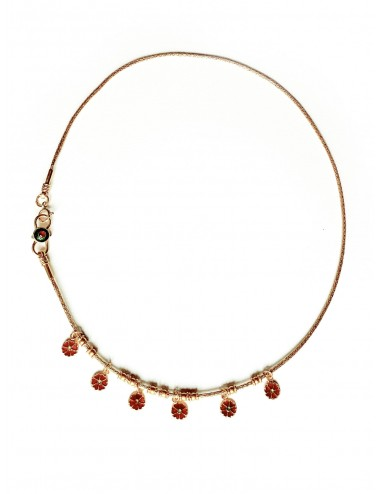 collier padawan red daisy